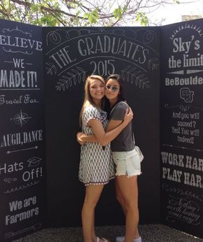 Graduation Party Ideas Chalkboard Photo Booth