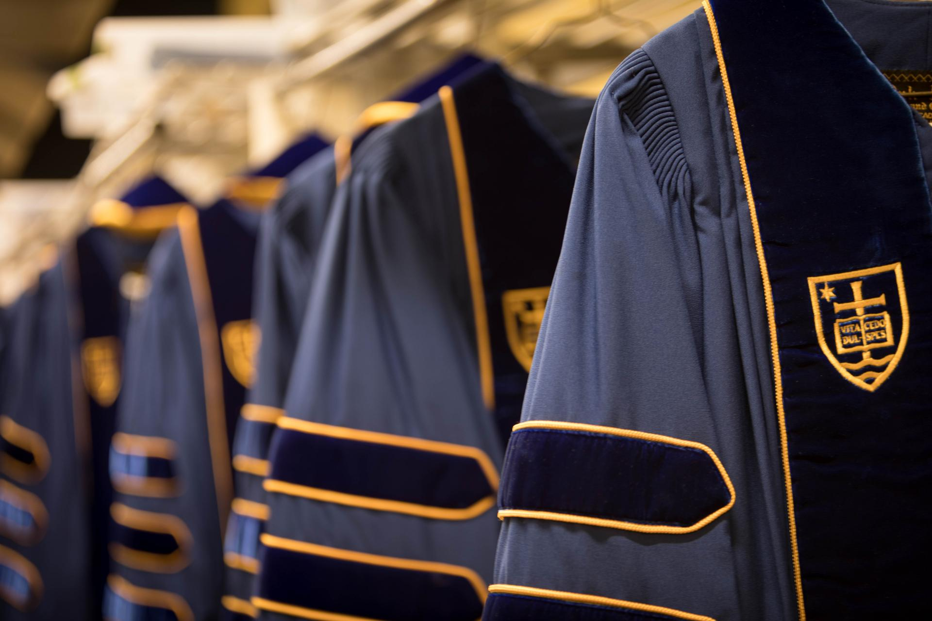 University of Notre Dame Commencement Robes