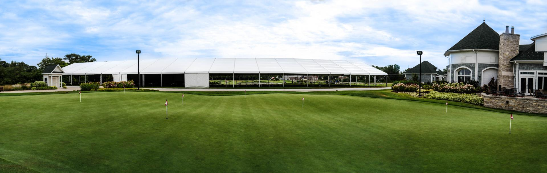 Structure Tent Rental on a Golf Course