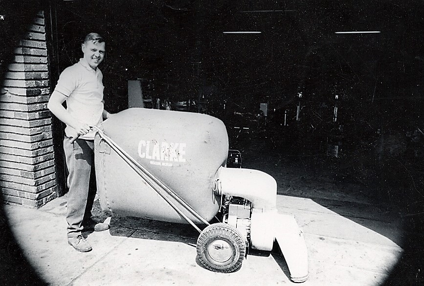 AAYS Founder With Early Rental Equipment 1960's