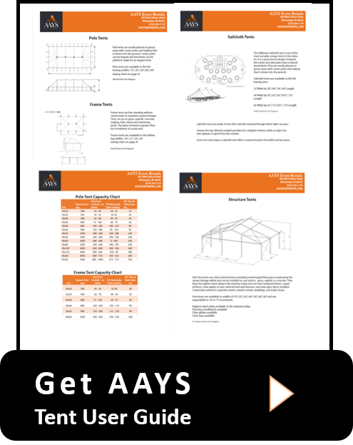 AAYS Event Rentals Frame Tents Pole Tents