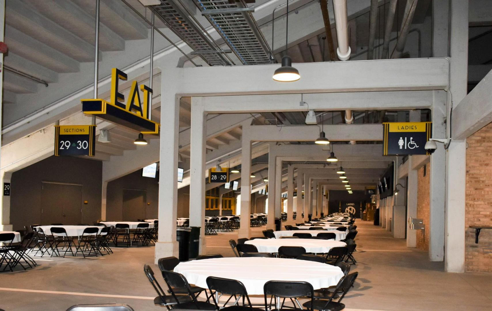 Notre Dame Stadium Concourse With Tables and Chairs Rentals
