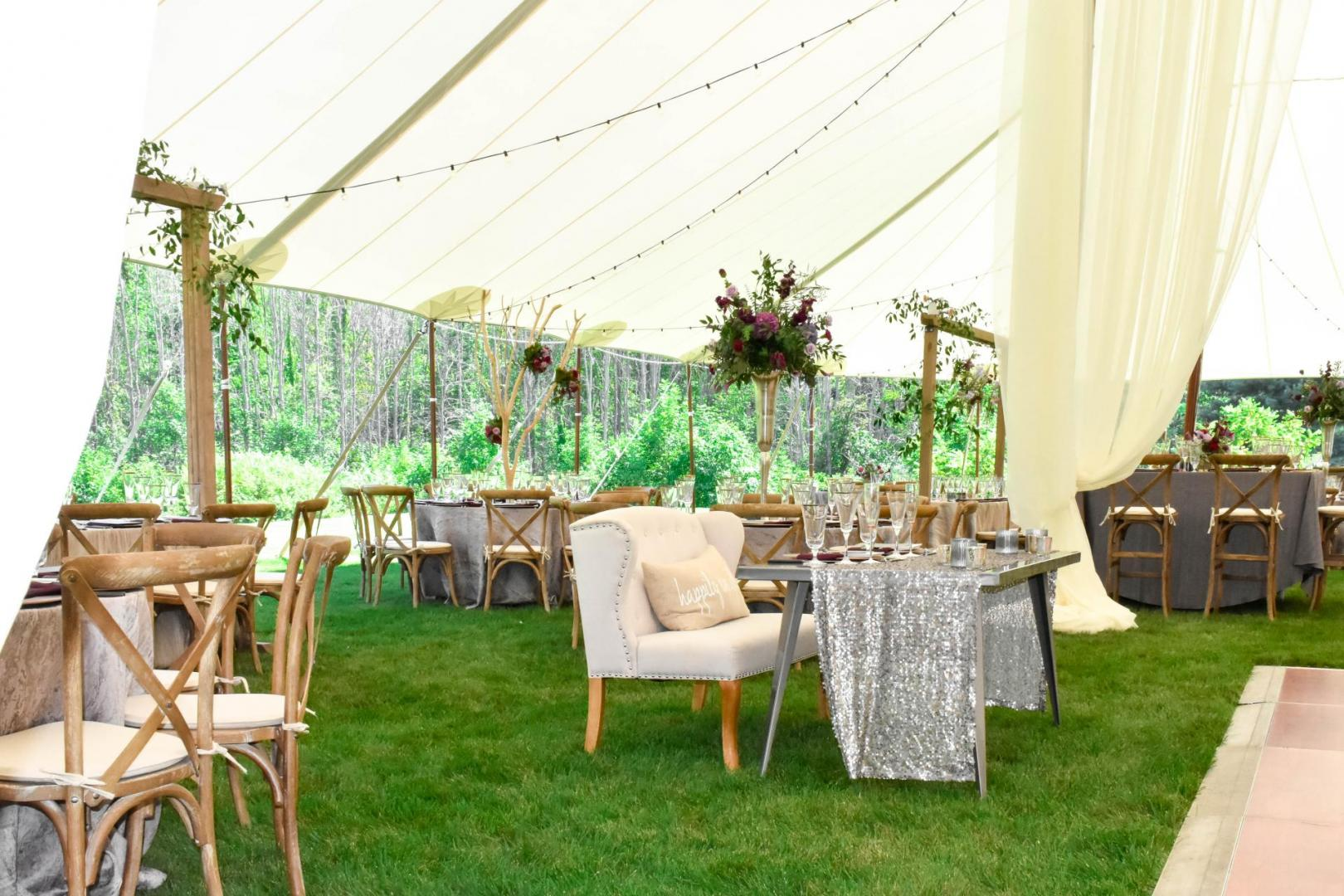 Wedding Sailcloth Tent Rental