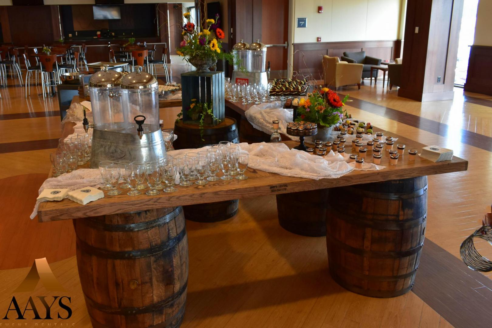 Whiskey Barrel Bars Aays Event Rentals