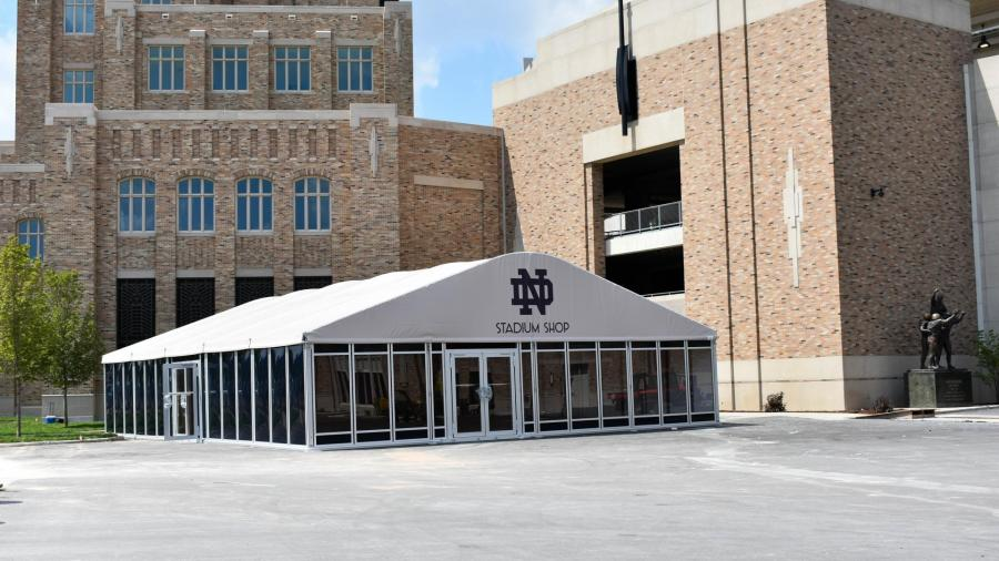 Hammes Bookstore Custom Tent At University Of Notre Dame Stadium
