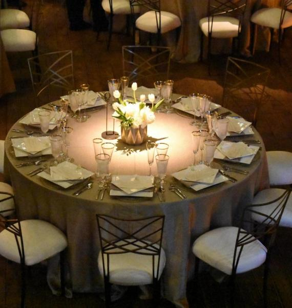 Industrial Glam Wedding table setting