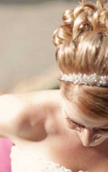 Vintage Headpiece and Hairstyle