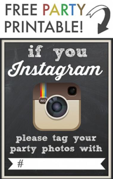 Instagram Hashtag Printable Page Image