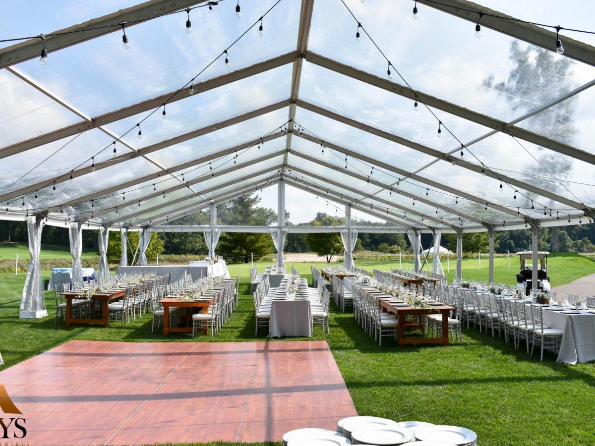 Clear Top Wedding | Aays Event Rentals
