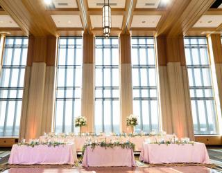 AAYS wedding rentals in the Dahnke Ballroom at Notre Dame