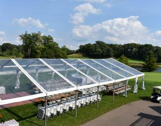 clear top structure tent rental