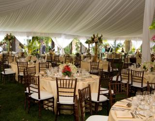 Pole tent with tent liner rentals