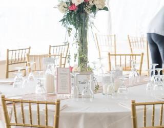 Gold chiavari chairs rental