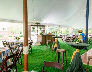 tented space with bar