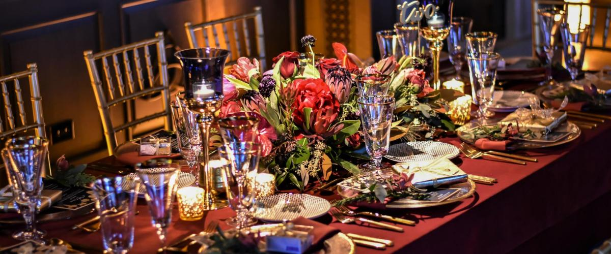 Holiday Party Table Setting