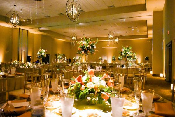 Ballroom Wedding with Gold Chiavari Chairs