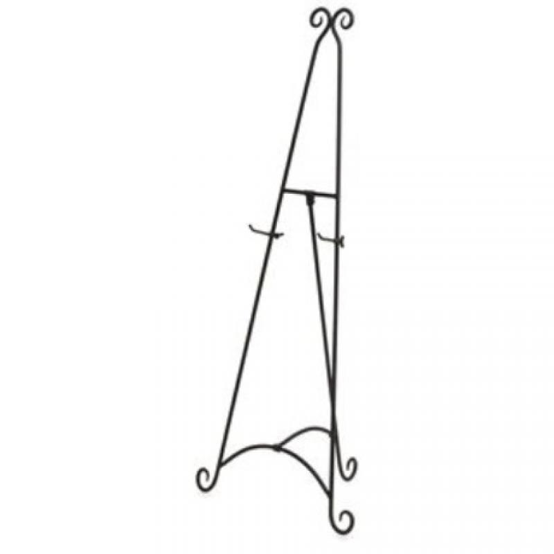 Black wrought iron easel