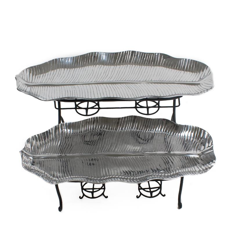 Banana Leaf Tiered Serving Set