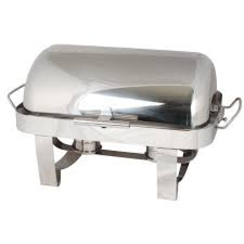 Stainless 8-quart roll top chafer