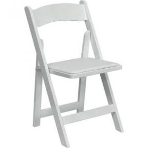 White Plastic Padded Chair