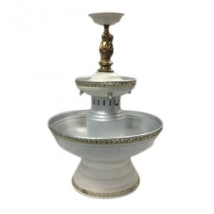 Cupid 2 Tier White with Gold Trim Fountain