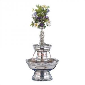 Cupid 2 Tier Stainless with Silver Trim Fountain