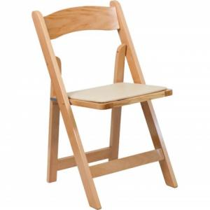 Natural Wood Folding Chairs
