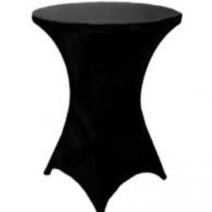 bistro table with spandex linen