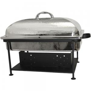 Hammered Stainless Chafer Oblong 6 quart and 8 quart