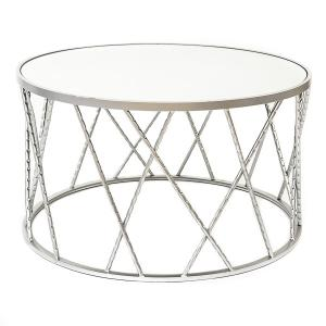Silver Cocktail Table Rental