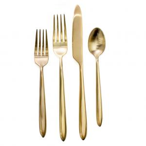 Brushed Gold Flatware Rental Product