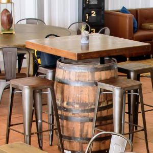 Whiskey Barrel Bistro Table