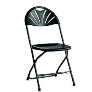 Black Fan Back Chair