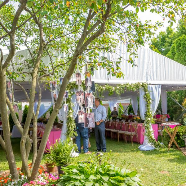 Tented Backyard Wedding Rental