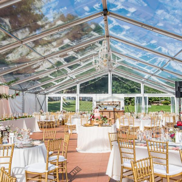 Clear Tented Wedding Reception