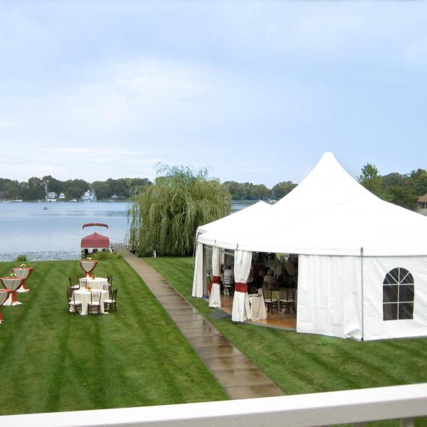 Structure Tent with Peak Top Rental