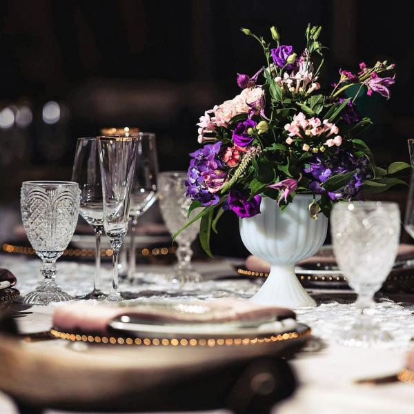 Velvet and Lace Tablescape