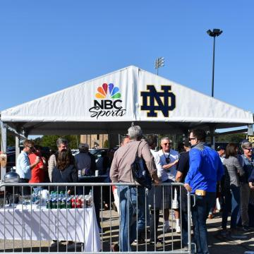 Crowd Control Fence at Notre Dame Football Game