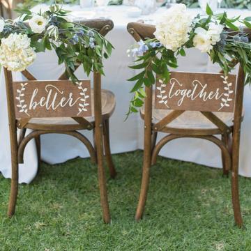 wedding accessories cross back chairs