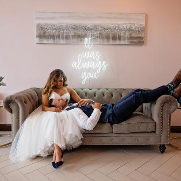 Neon Sign and couple