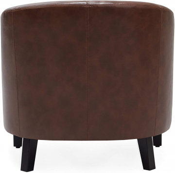 Leather Barrel Chair Back View