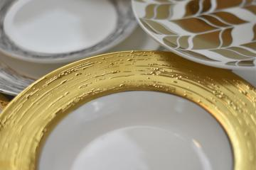 Marais Pattern gold rimmed china