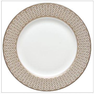 Marcella Gold Dinner Plate