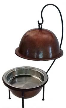 Round Hammered Copper Chafer