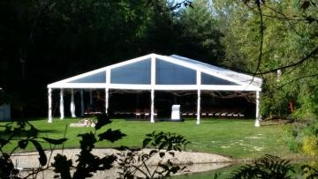Clear Gable Structure Tent Rental
